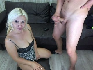 hotblondemilf horny couple makes facial massage by a dick online
