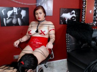 girls4bdsm latina cam girl offers her shaved pussy in exchange for a your attention online