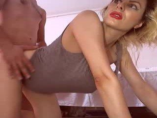 luccy24 cam girl gets two oiled dick on camera